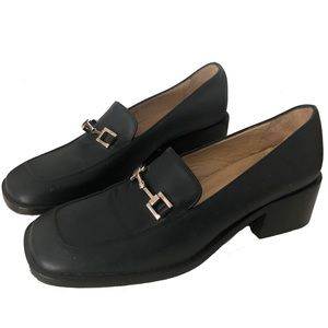 Gucci Horsebit Leather Loafers Chunky Heels Shoes